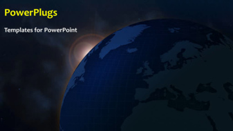 PowerPoint Template - An abstract global background